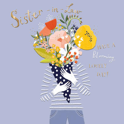 Sister-In-Law Birthday Greeting Card By The Curious Inksmith