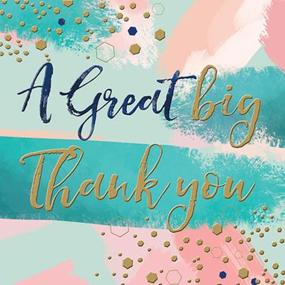 A Great Big Thank You Greeting Card By The Curious Inksmith