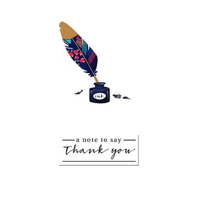 A Note To Say Thank You Greeting Card By The Curious Inksmith