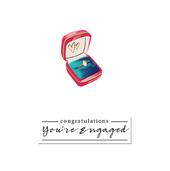 Congratulations Engagement Greeting Card By The Curious Inksmith