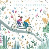 Together Happy Anniversary Greeting Card By The Curious Inksmith