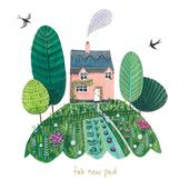 Fab New Pad New Home Greeting Card By The Curious Inksmith