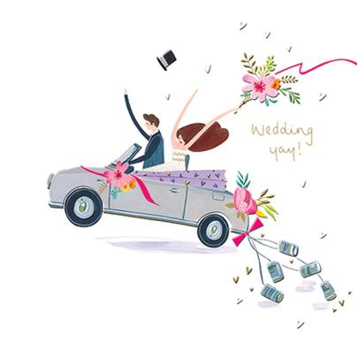 Yay Wedding Day Greeting Card By The Curious Inksmith