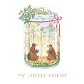 Lovely Friend Friendship Greeting Card By The Curious Inksmith