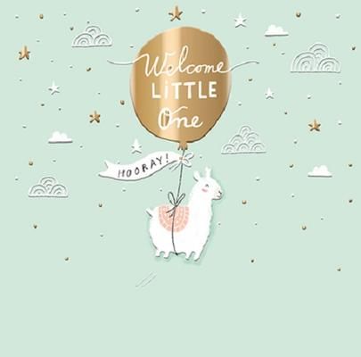 Welcome Little One New Baby Greeting Card By The Curious Inksmith