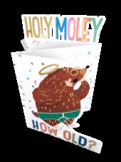 Holy Moley How Old? 3D Cutting Edge Birthday Card