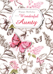 To A Wonderful Aunty Birthday Greeting Card
