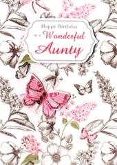 To A Wonderful Aunty Birthday Greeting Card