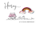 Hooray It's Your Birthday Beaded Greeting Card