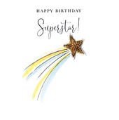 Happy Birthday Superstar Beaded Greeting Card
