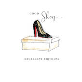 Good Shoes Excellent Birthday Beaded Greeting Card