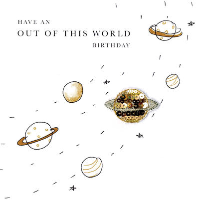 Have An Out Of This World Birthday Beaded Greeting Card