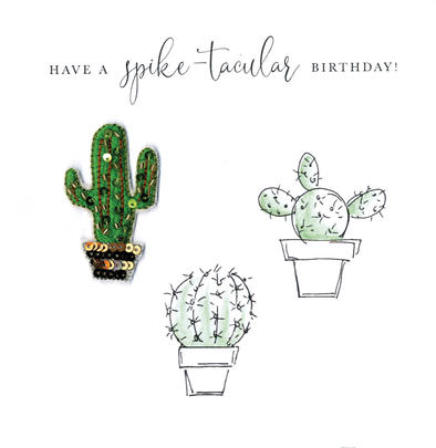 Have A Spike-tacular Birthday Beaded Greeting Card