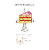 Your Best One Yet Happy Birthday Beaded Greeting Card