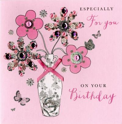 For You On Your Birthday Buttoned Up Greeting Card