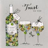 A Toast To You Birthday Buttoned Up Greeting Card