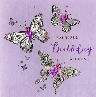 Beautiful Birthday Wishes Buttoned Up Greeting Card