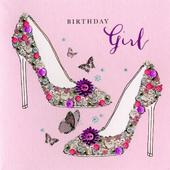 Shoes Birthday Girl Buttoned Up Greeting Card