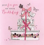Cake On Your Birthday Buttoned Up Greeting Card