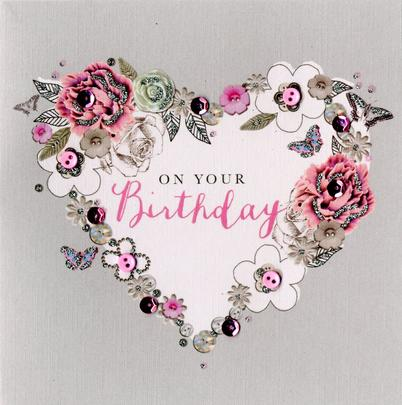 Heart On Your Birthday Buttoned Up Greeting Card
