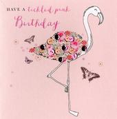 Have A Tickled Pink Birthday Buttoned Up Greeting Card