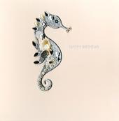 Jewelled Seahorse Birthday Greeting Card Handmade