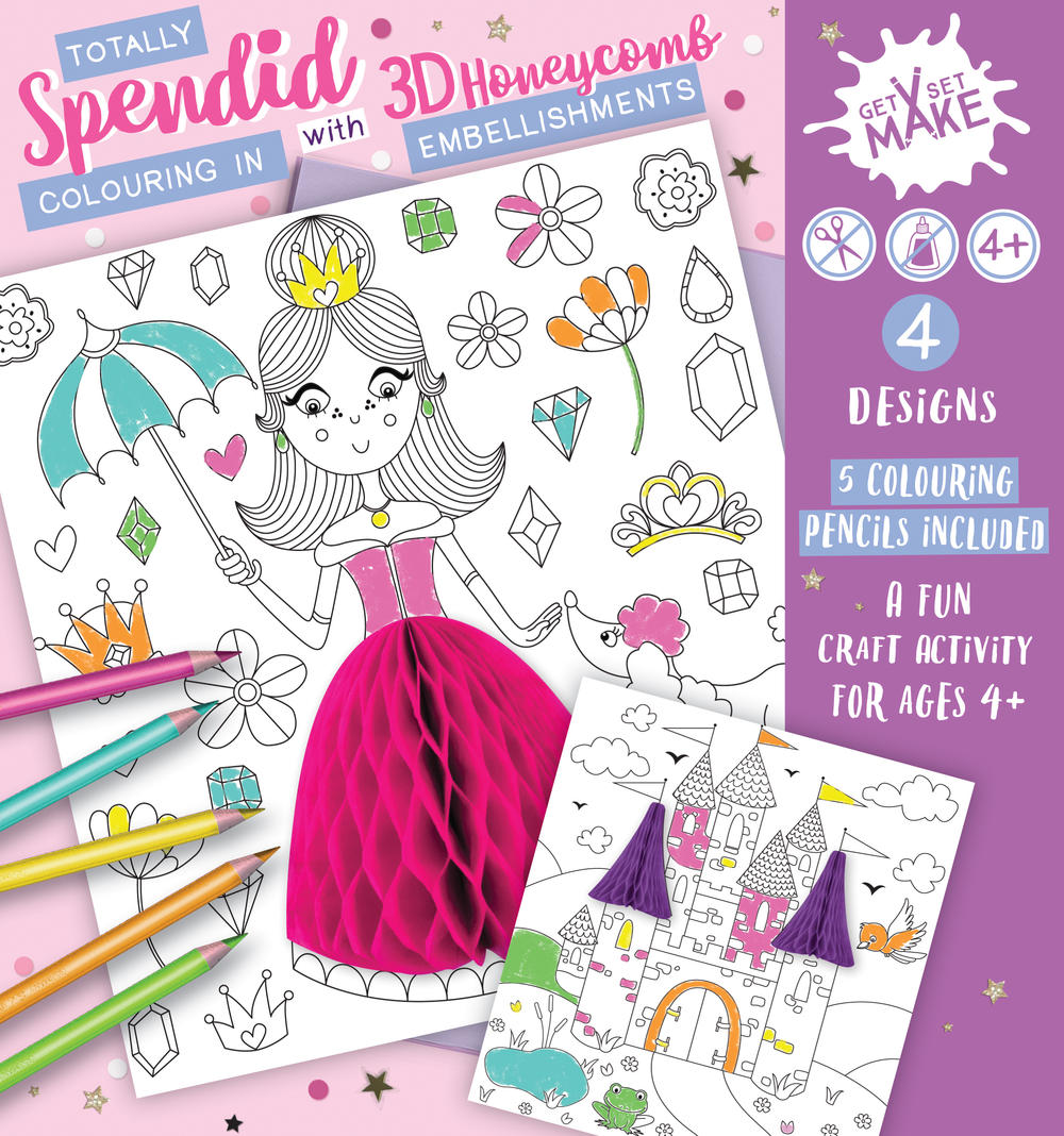 Get Set Make Totally Splendid Colouring In Set With Honeycombs