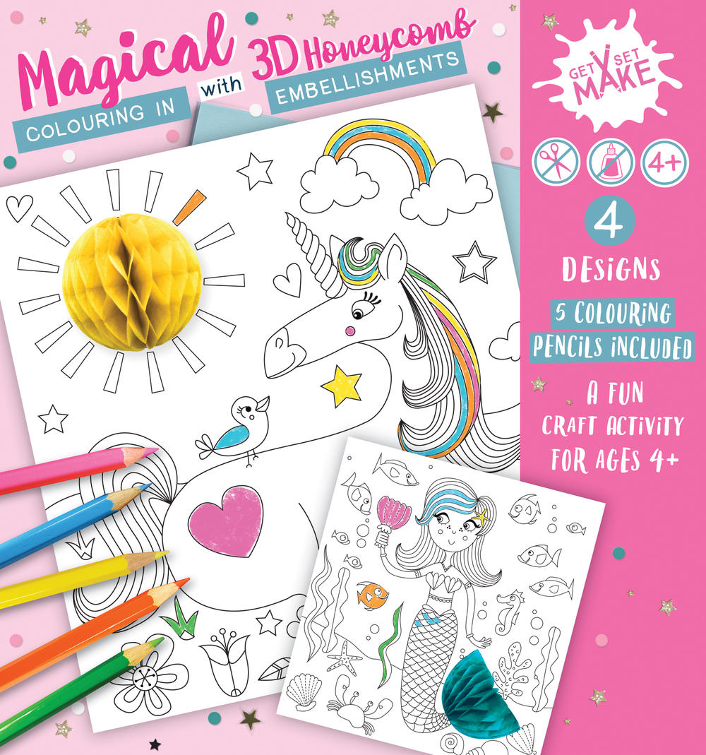 Get Set Make Magical Colouring In Set With Honeycombs