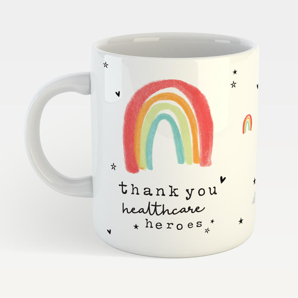 Thank You Healthcare Heroes Mug Supporting Our NHS #stayhomedrinktea