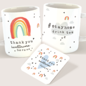 Thank You Healthcare Heroes Mug & Coaster Supporting Our NHS #stayhomedrinktea