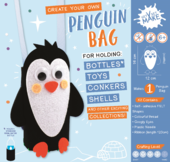 Get Set Make Create Your Own Penguin Bottle Bag Felt