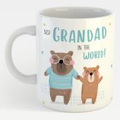 Cute Bear Best Grandad In The World Mug In A Gift Box Father's Day Mug