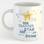 My Teacher Is A Star Who Taught Me To Shine Mug In A Gift Box Thank You Mug
