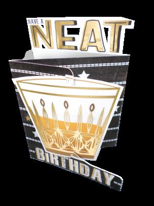 Neat Birthday 3D Cutting Edge Birthday Card