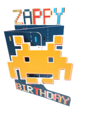 Zappy Birthday 3D Cutting Edge Birthday Card