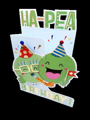 Ha-Pea Birthday 3D Cutting Edge Birthday Card