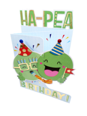 Ha-Pea Birthday 3D Cutting Edge Birthday Card