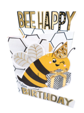 Bee Happy 3D Cutting Edge Birthday Card