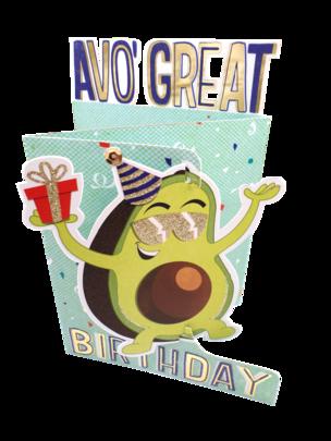 Avo' Great Birthday 3D Cutting Edge Birthday Card