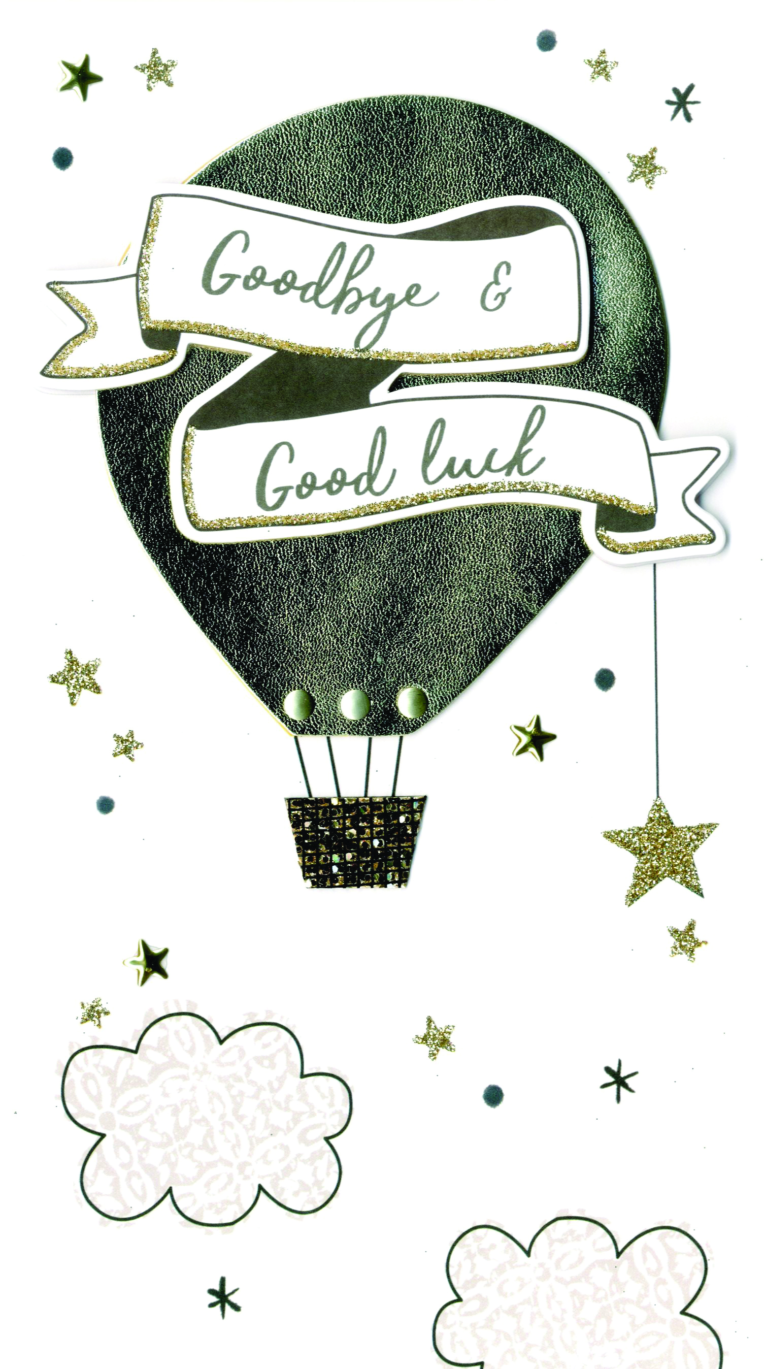Goodbye & Good Luck Greeting Card Hand-Finished