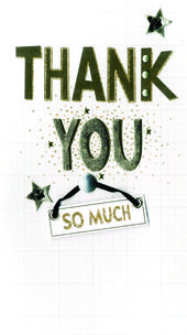 Thank You Greeting Card Hand-Finished