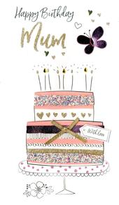 Wonderful Mum Birthday Greeting Card Hand-Finished