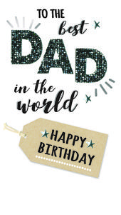 Wonderful Dad Birthday Greeting Card Hand-Finished