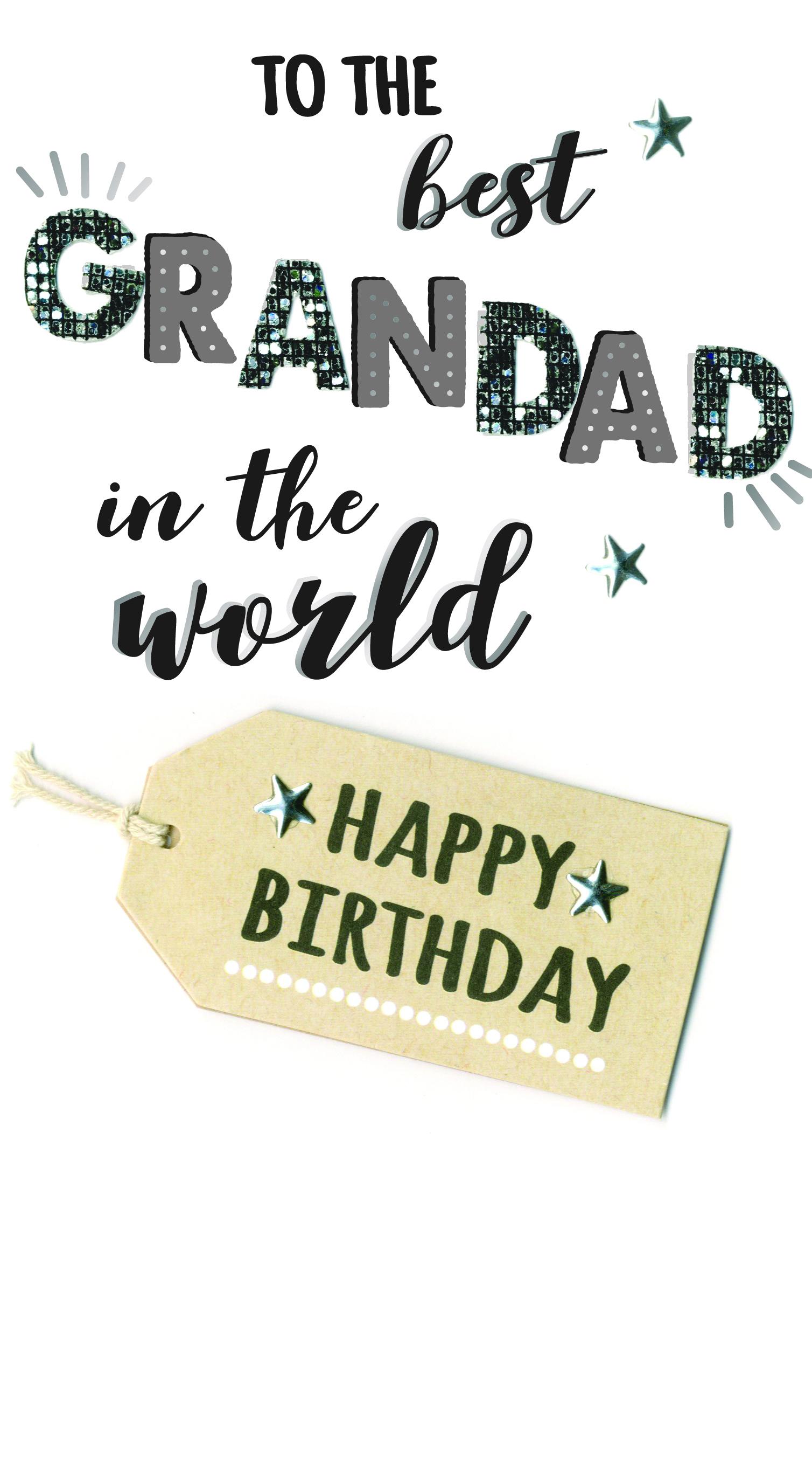 Wonderful Grandad Birthday Greeting Card Hand-Finished