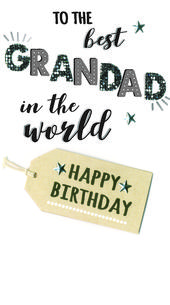 Wonderful Grandad Birthday Greeting Card Hand-Finished
