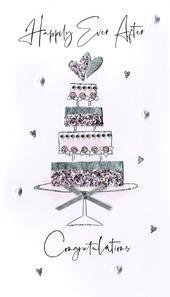 Wonderful Wedding  Greeting Card Hand-Finished