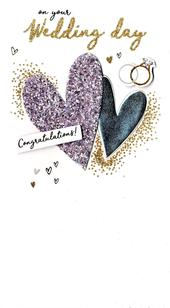 Wonderful Wedding Greeting Card Hand-Finished