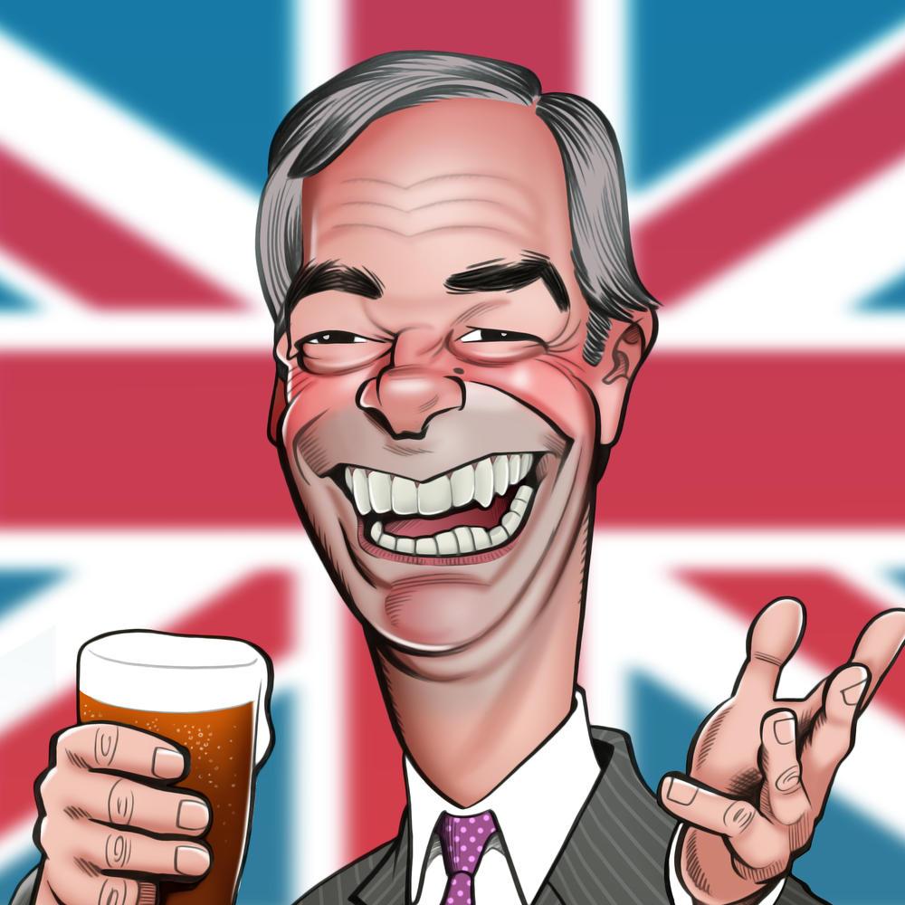 Nigel Farage Birthday Greeting Sound Card Blank Inside