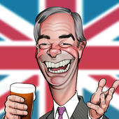 Nigel Farage Birthday Greeting Sound Card Blank Inside