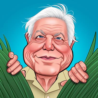 David Attenborough Birthday Greeting Sound Card Blank Inside